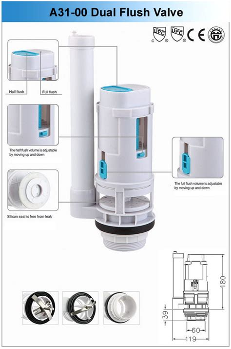 china water closet accessory 2 dual flush valve china