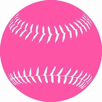 Softball Pink Clip Clipart Clker Vector