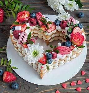 Cream Tart A Forma Di Cuore Per San Valentino
