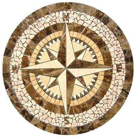 compass mosaic tile medallion 34 quot diameter
