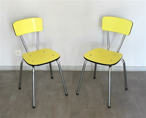 2 chaises formica vintage jaune le vintage dans la peau