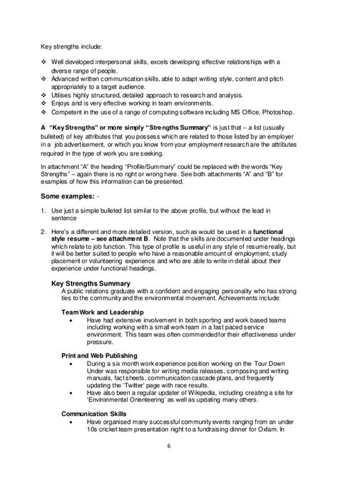 key strengths in resume fabulous administrative assistant