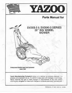 Yazoo  Kees Lawn Mower Sv26b