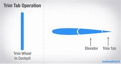 Trim Elevator Tab Operation Control V1 Aircraft