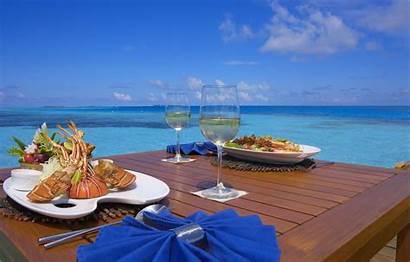 Maldives Seafood Beach Champagne Island Resort Medhufushi