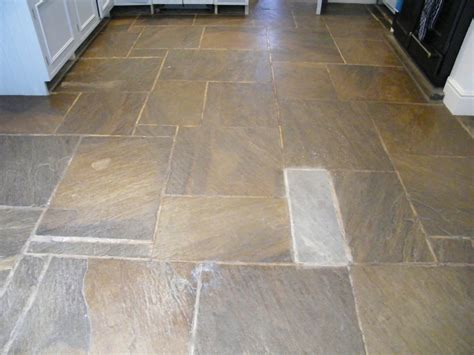 Sandstone Flooring For Kitchens by Stripping Cleaning And Sealing Of Kitchen Floor In
