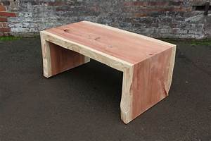 northwest wood design live edge wood table seattle With live edge waterfall coffee table