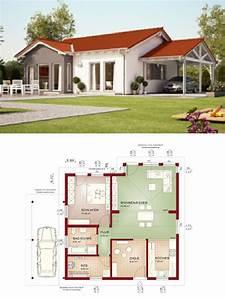 Haus Im Landhausstil : bungalow haus im landhausstil mit satteldach und carport ~ Lizthompson.info Haus und Dekorationen