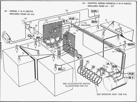 36 volt ez go golf cart wiring diagram autobonches