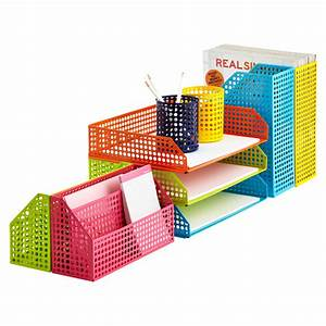 8 fashionable paper holders to add a touch of style to With colored stackable letter trays
