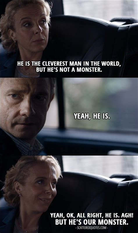 sherlock quotes john mary watson bbc holmes detective lying he 4x02 monster cleverest funny quote martin mycroft scatteredquotes season books