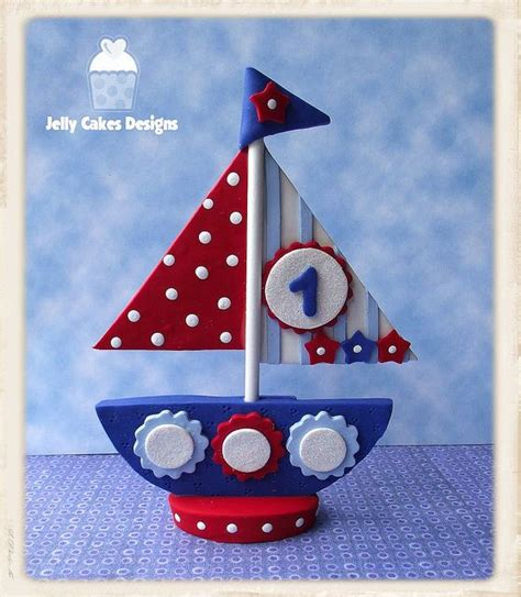 Sailboat Cake Topper by Sailboat Cake Topper Porcelana Fria Pinterest