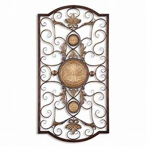 uttermost micayla large metal wall art ebay With metal wall decor