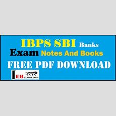 Ibps Sbi Banks Exam Notes And Books Free Pdf Download  Engineering Exams