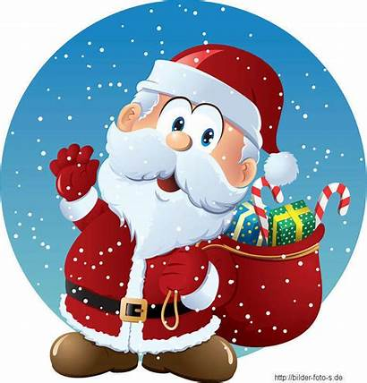 Santa Claus Cartoon Vector Weihnachtsmotive Gift Christmas