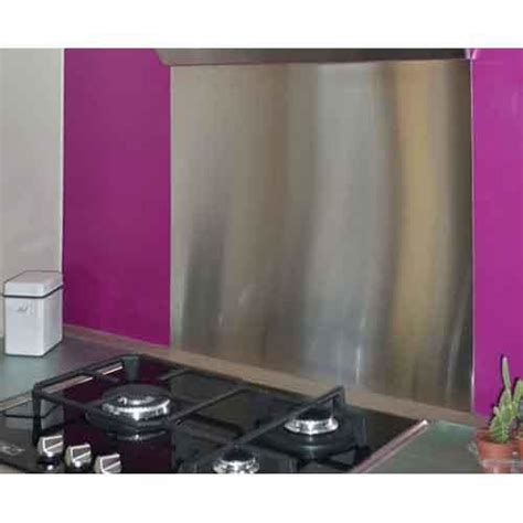 crédence cuisine inox à coller crédence en inox 90 x 75 cm plaque inox 1 mm crédence