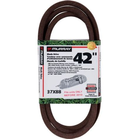 Murray Mower Deck Belt by Murray 42 Inch Cut Mower Blade Drive Belt 1989 To