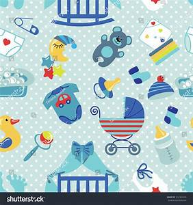 Cute newborn seamless pattern baby boybaby stock