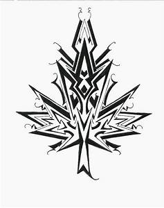 Maple leaf design tribal style by Nox-Dracoria on DeviantArt