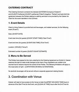 7 catering contract templates free word pdf documents With catering contracts templates