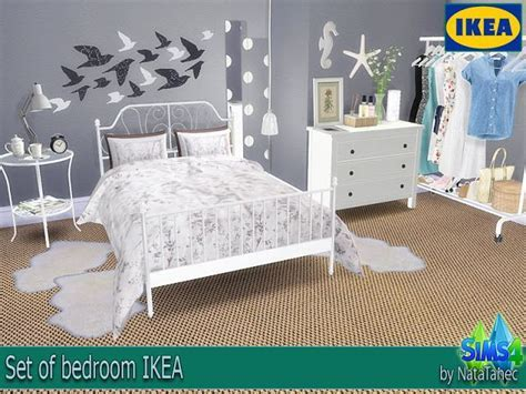 Sims 4 CC's   The Best: Set of bedroom IKEA by Natatanec
