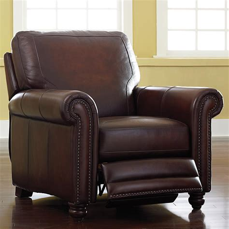 leather recliners for world brown leather recliner bassett furniture