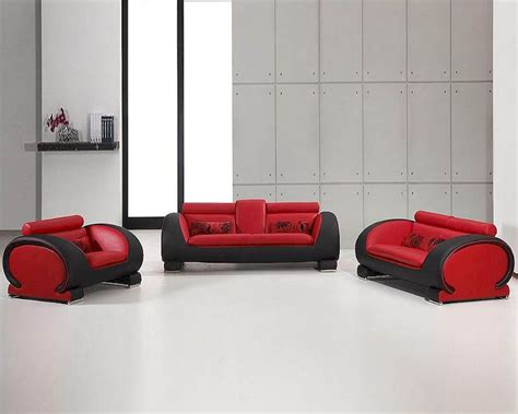 red and black sofa set red and black bonded leather sofa set 44l2811rb