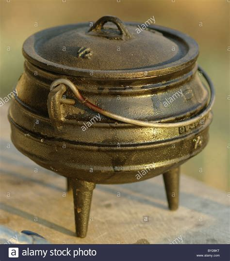 Traditional African three legged pot made in South Africa
