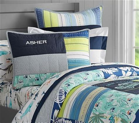 Pottery Barn Surf Bedding by Asher Surf Patch Quilted Bedding Pottery Barn