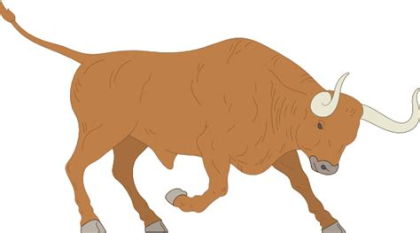 Bull Clipart Bull Preparing To Charge Clip At Clker Vector