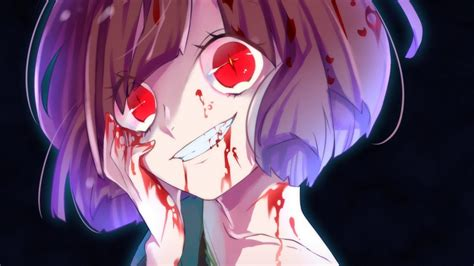 Creepy Anime Wallpaper - 1366x768 undertale chara yandere creepy smile