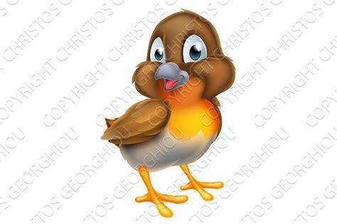 Cartoon Christmas Robin Bird