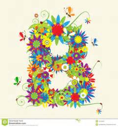 letter b floral design stock photography image 10275052
