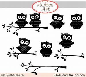 Items similar to Black Owl Clipart,owls clip art ...
