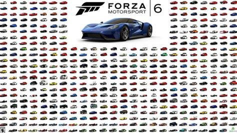 Forza Motorsport 6  Full Car List  Including Fast