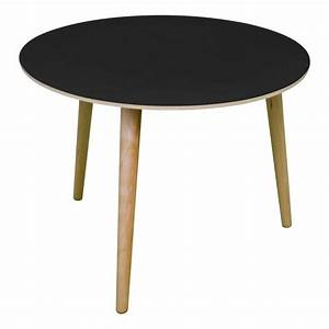 pin table ronde zone 5 on pinterest With table basse bois noir