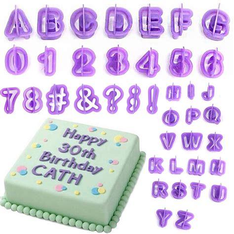 cake decorating alphabet cutters 40pcs alphabet number letter fondant cake decorating set