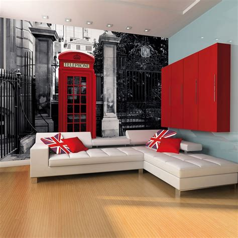 wall giant wallpaper mural london telephone phone box