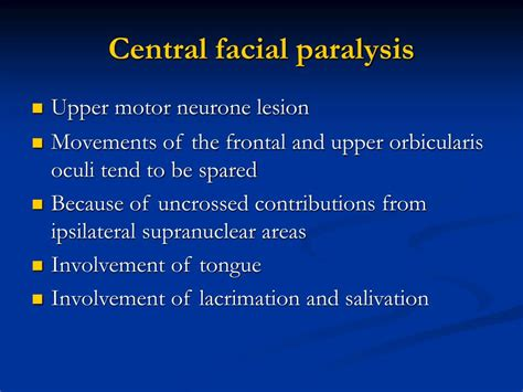 PPT - Facial Nerve Paralysis PowerPoint Presentation, free ...