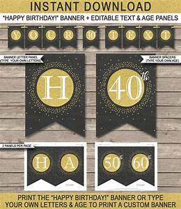 happy birthday banner printable 30th 40th 50th 60th etc With 50th birthday banner template