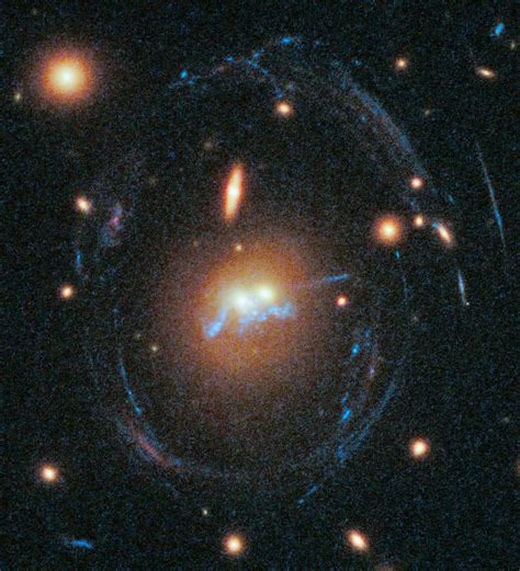 Merging Giant Galaxies Sport 'blue Bling' In New Hubble