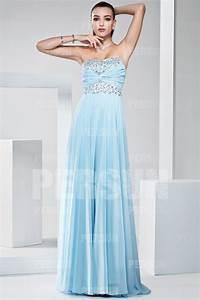 Robe Bleu Demoiselle D Honneur : robe bleu clair longue bustier en sequin pour demoiselle d 39 honneur ~ Dallasstarsshop.com Idées de Décoration