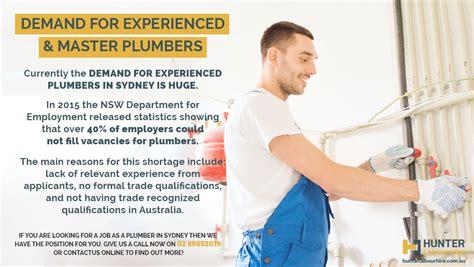 Plumbing Jobs In Sydney  Plumbers Required! Hunter