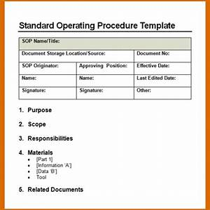 11 standard operating procedure template word With information technology procedure template