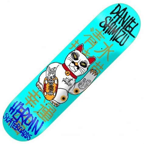 future skateboard deck cat heroin skateboards heroin shimizu cat skateboard deck 8 25