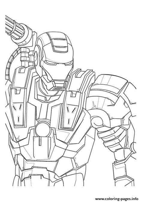 war machine  avengers marvel coloring pages printable