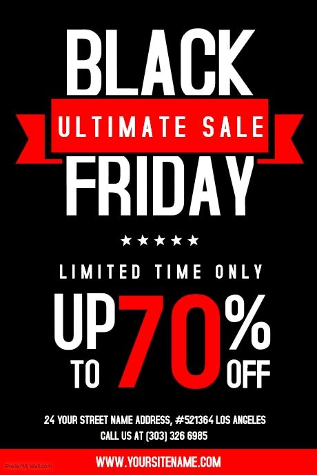 black frigay template customize 620 black friday flyer templates postermywall