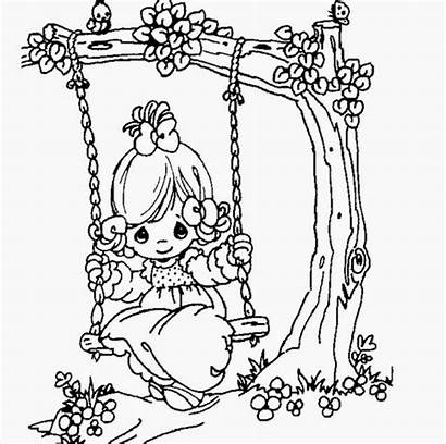 Precious Moments Cartoon Drawing Coloring Colour Pages