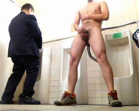 Hong Kong Man Hippie In Toilet Auto Toilet Jerk
