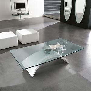 Table Basse Blanche Et Verre : table basse tudor avec base en forme d 39 arc arredaclick ~ Preciouscoupons.com Idées de Décoration